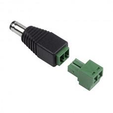 LAZSO AP008 Разъем питания (штекер 2,1 мм) крепление кабеля под клемму